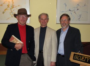 The stars of Literary Cocktails...Life Writing Edition—Jerry Haigh, Ken Hoeppner, and Ted Bishop.