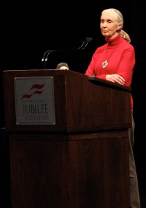 Jane Goodall, 2008 Louis D. Hyndman Sr. Lecture Series at the Jubilee Auditorium, Edmonton