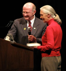 Jane Goodal, 2008 Louis D. Hyndman Sr. Lecture, with MC
