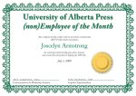 Joscelyn Armstrong—Unemployee of the Month(s)