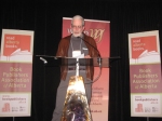 Scholar, poet, and NeWest President Doug Barbour speaks of Diane Bessai's contributions to literary culture in Alberta and accepts the Lifetime Achievement Award on her behalf.