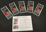 Brochures about the Red Dress Photography Project