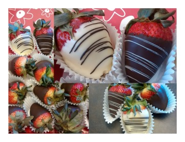 Chocolate covered strawberries_collage